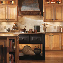 Diamond at Lowes Rustic Cabinets