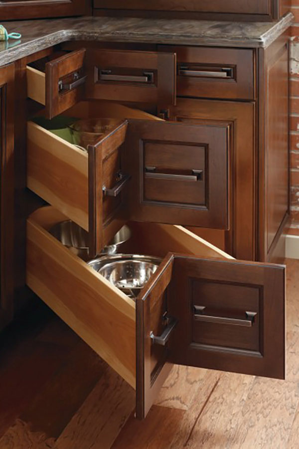 Three Drawer Corner Cabinet