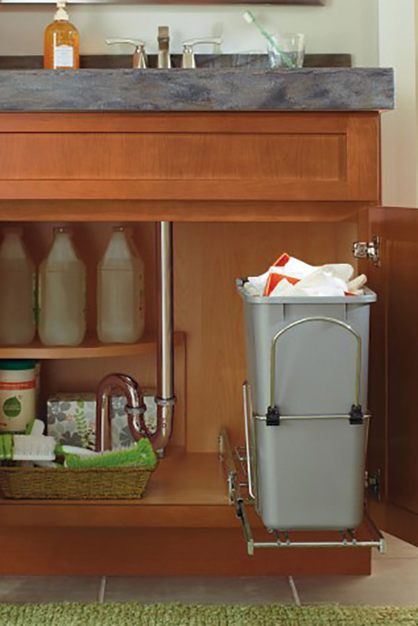 Vanity Sink Base SuperCabinet with Wastebasket