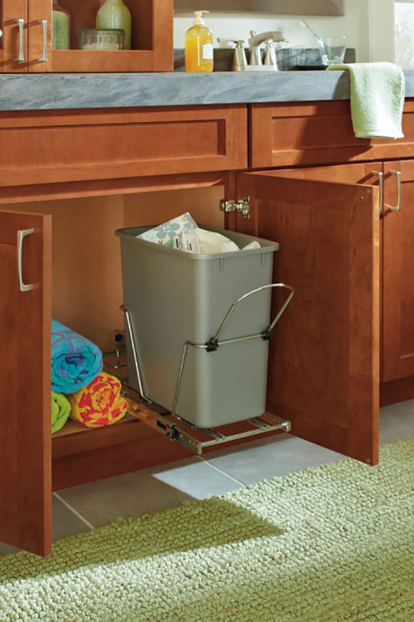 Vanity Sink Base with Wastebasket