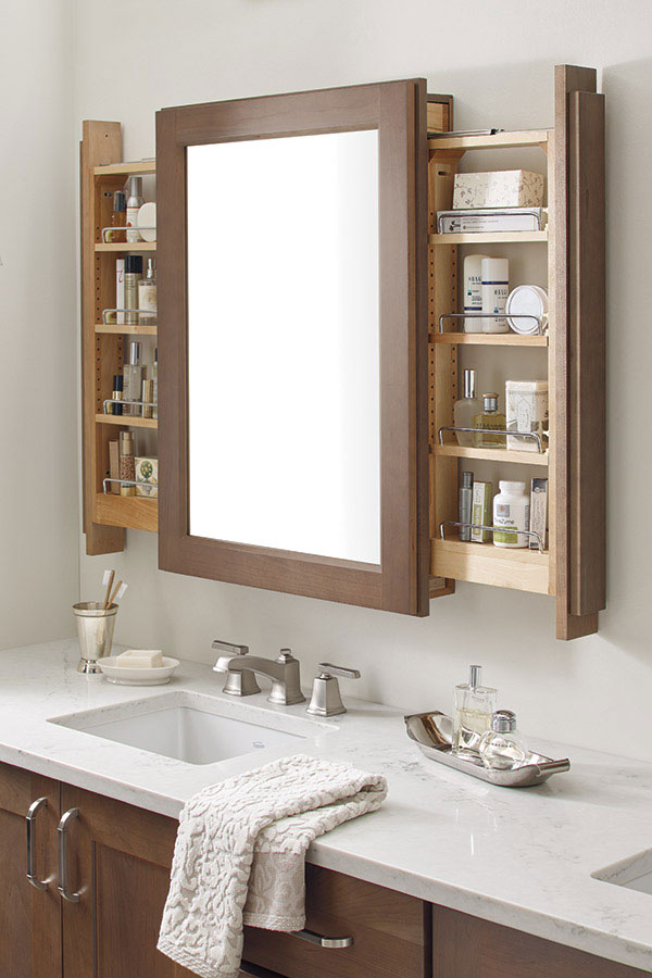 Vanity Mirror with Side Pullouts
