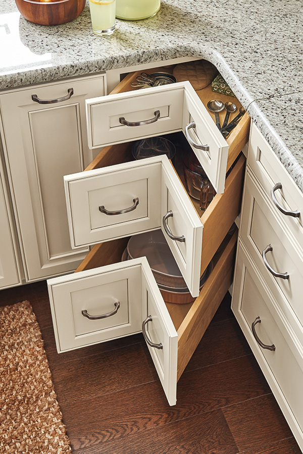 Kitchen Cabinets With Corner Drawers