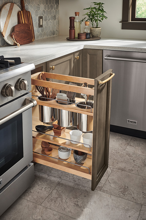 Utensil Pantry Pull Out Cabinet