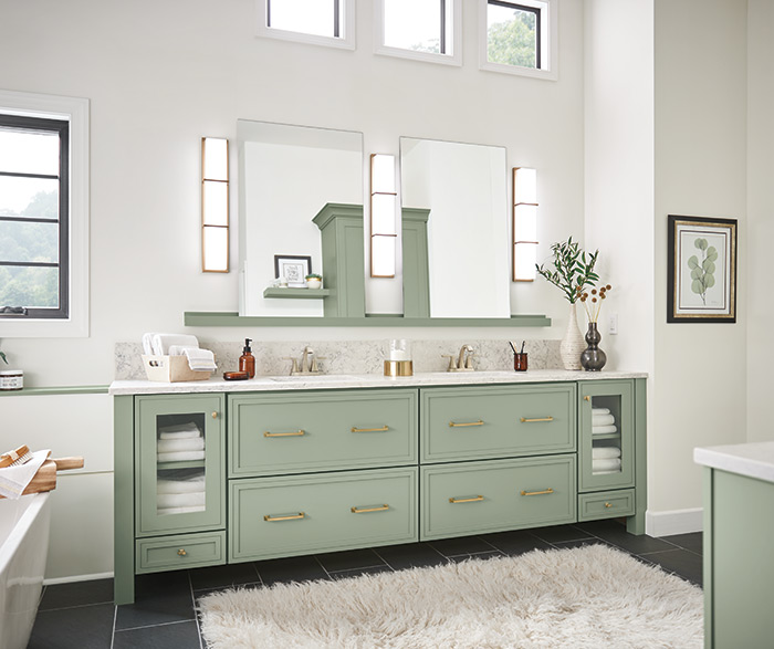 Amelia Contemporary Bathroom Painted Coastal Plain