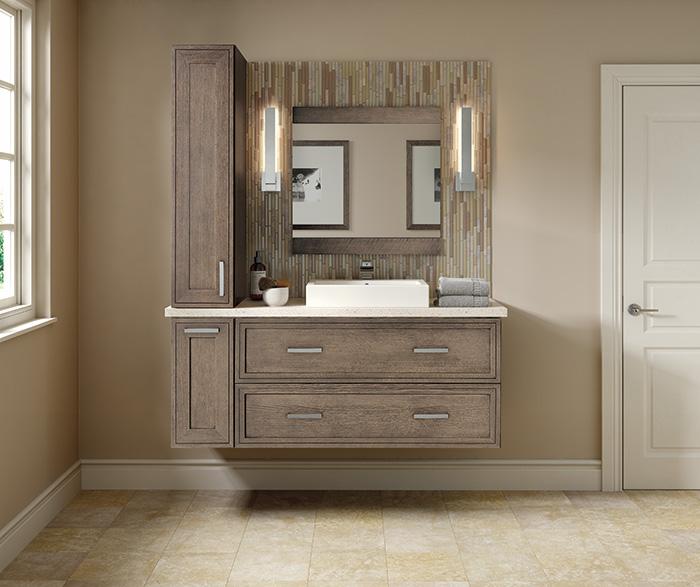 Rustic Bathroom Quartersawn Oak Seal ...