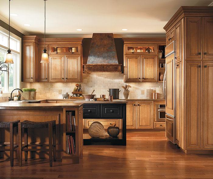 ... Traditional Kitchen Maple Coffee Artisan Glazing ...