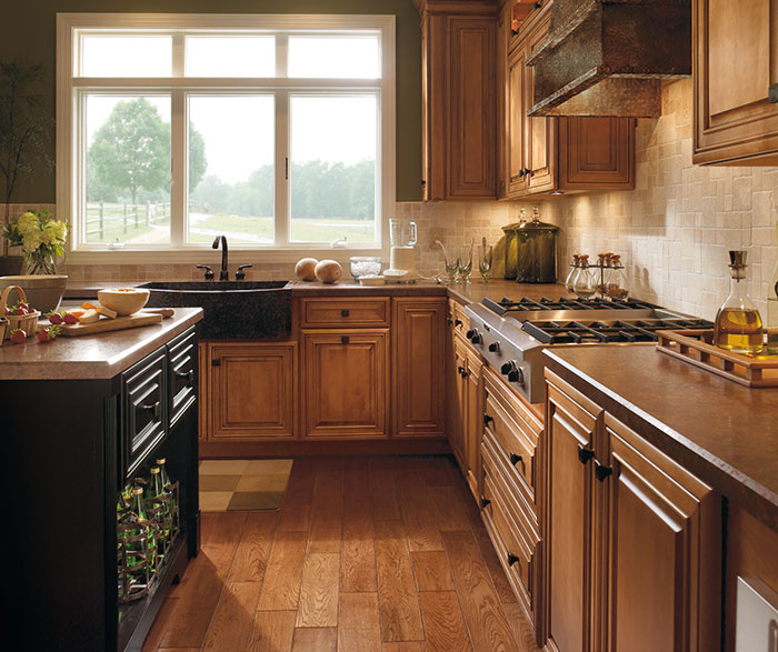 Traditional Kitchen Maple Coffee Artisan Glazing K2