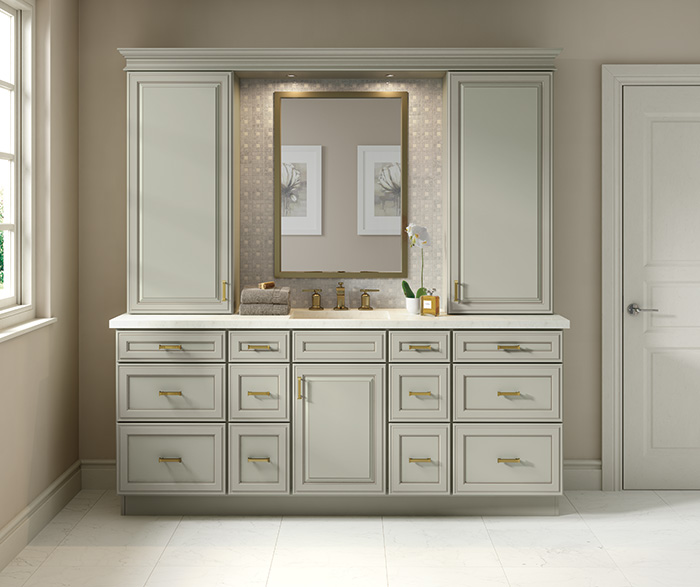 Traditional Bathroom Maple Escape Gray Nougat