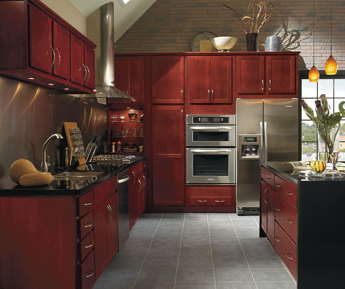 Contemporary Kitchen Cherry Cranberry