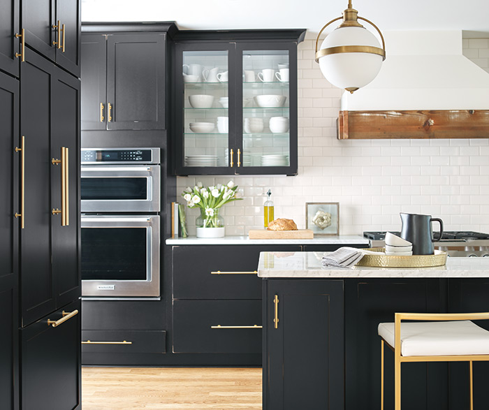 Casual Kitchen Painted Worn Black