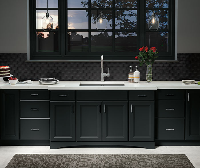 Contemporary Kitchen Maple Black K2