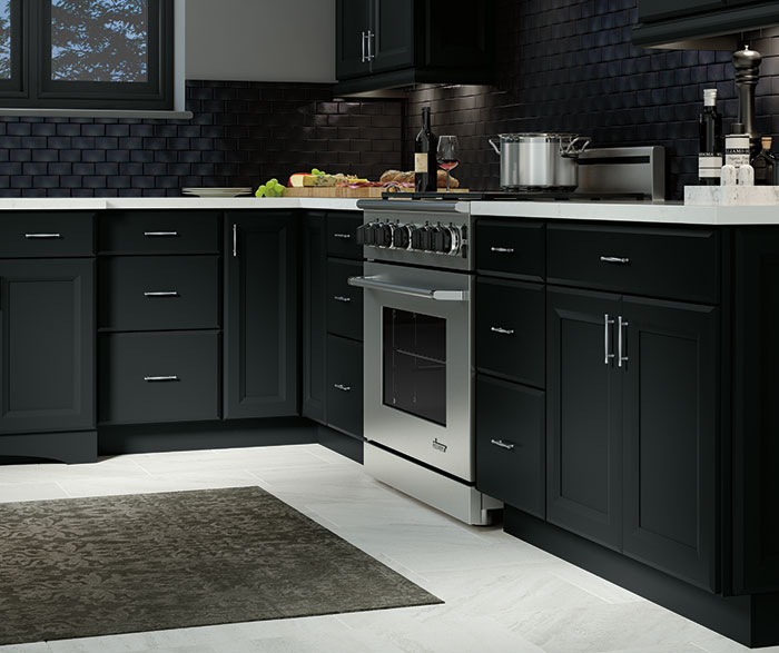 Contemporary Kitchen Maple Black K3