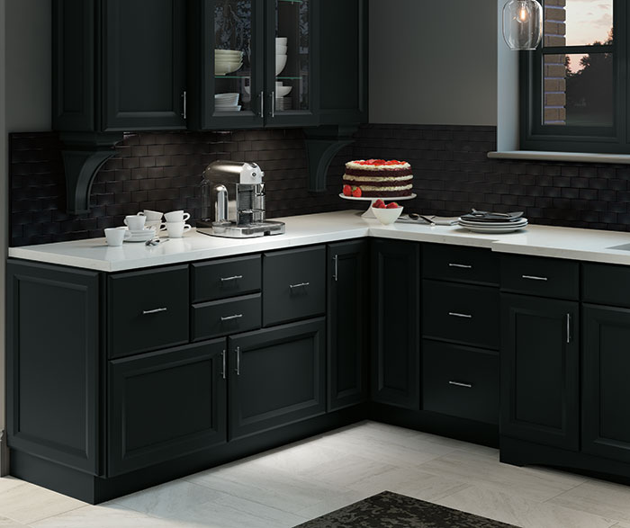 Contemporary Kitchen Maple Black K4
