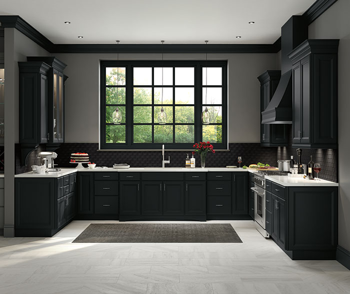 Contemporary Kitchen Maple Black