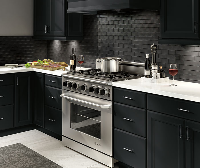 Contemporary Kitchen Maple Black K5