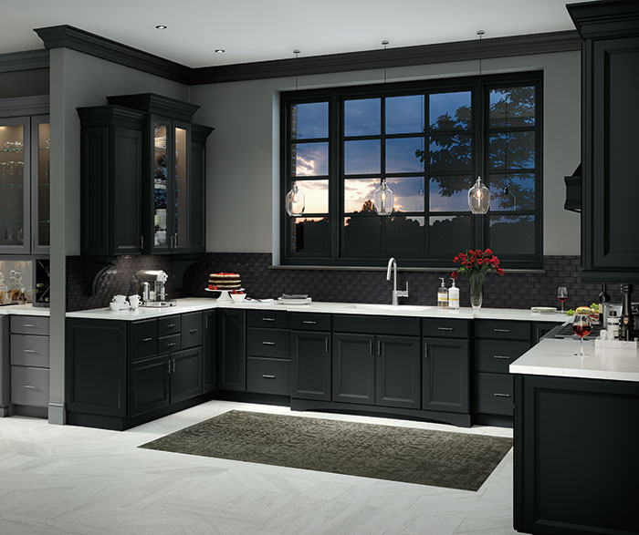 Contemporary Kitchen Maple Black K6