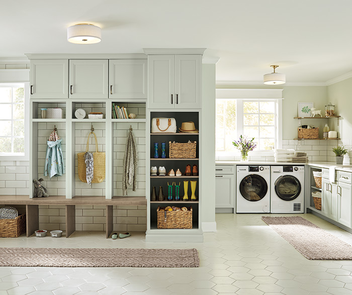 Hepburn Traditional Laundry Room Painted Sea Salt