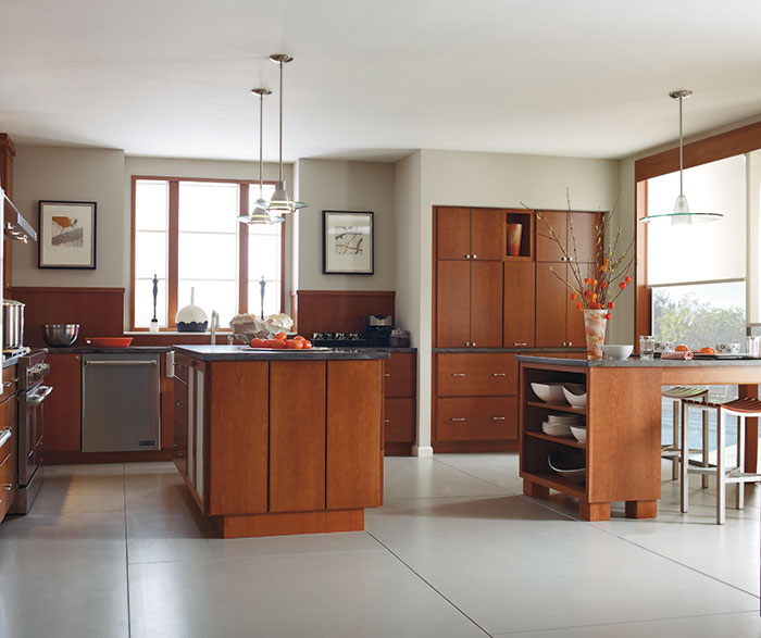 Contemporary Kitchen Cherry Cattail