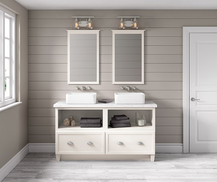 Jamestown Painted White Bathroom