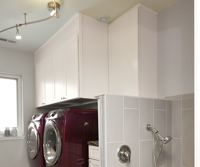 Transitional Laundry Painted White