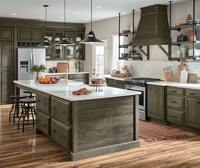 Transitional Kitchen Maple Grizzly