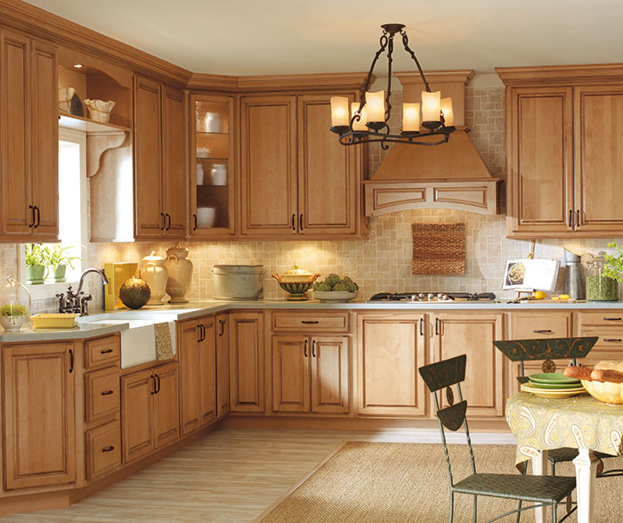 Traditional Kitchen Maple Palomino Artisan Glazing