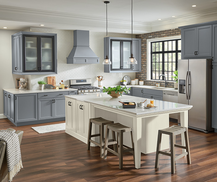 diamond at lowes - vista painted serious gray and basden truecolor glacier kitchen cabinets