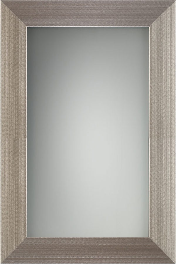 Aluminum Brushed Stainless with Frosted Glass Panel