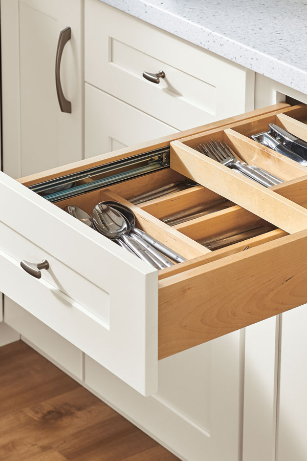 Solid Wood Tiered Cutlery Divider